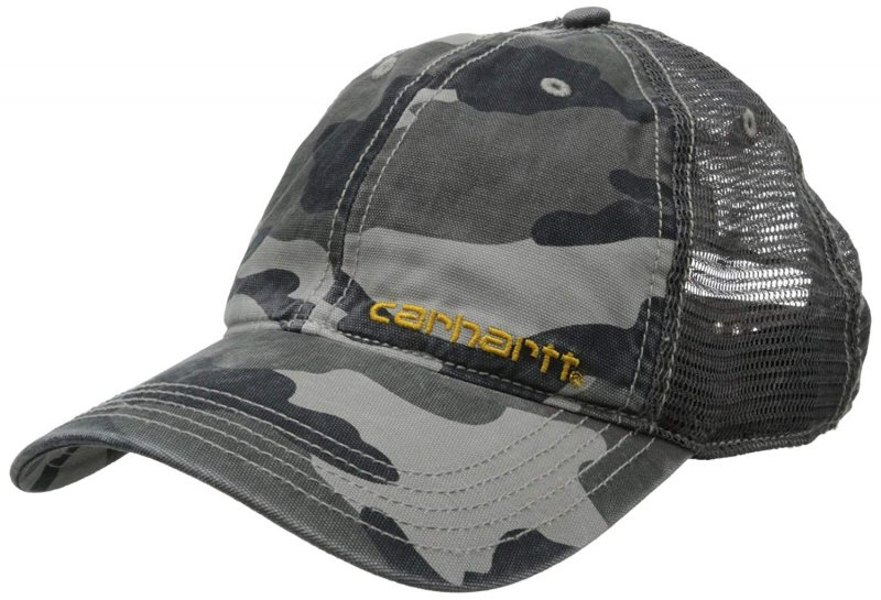 Carhartt Men's Brandt Cap,Rugged Gray Camo