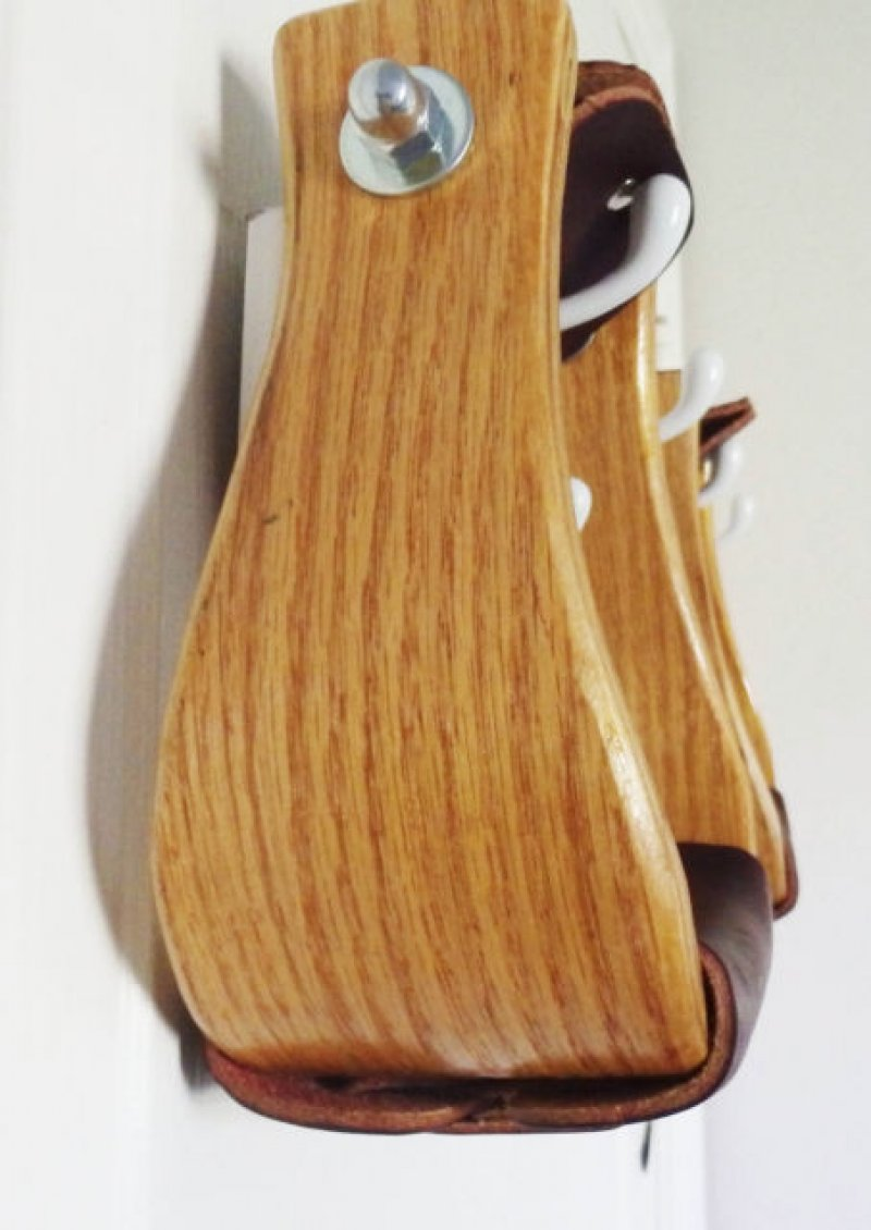 Oak Wood Bell Stirrups 3