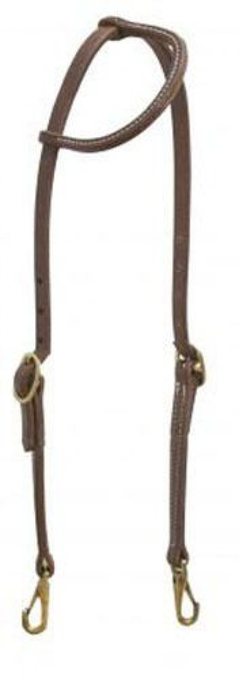 Double Buckle Slip Ear Headstall with Snaps
