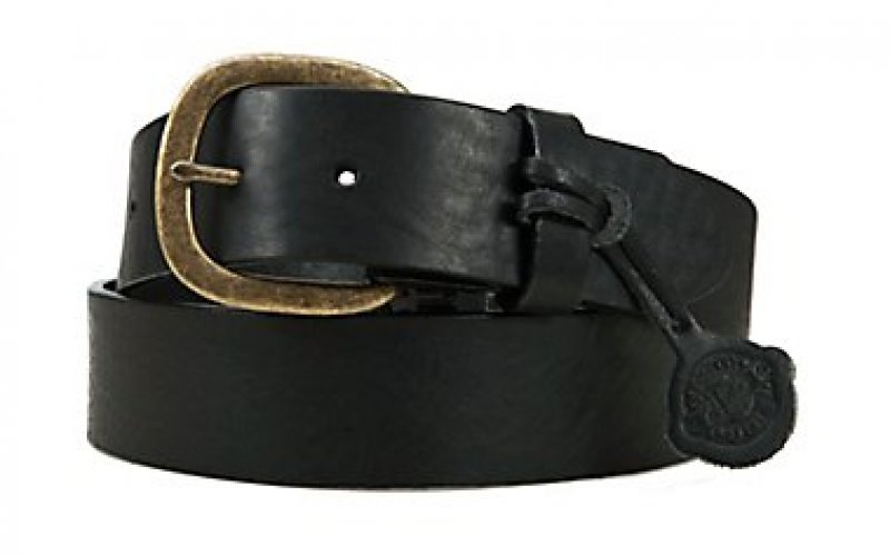 Black belt, smooth leather