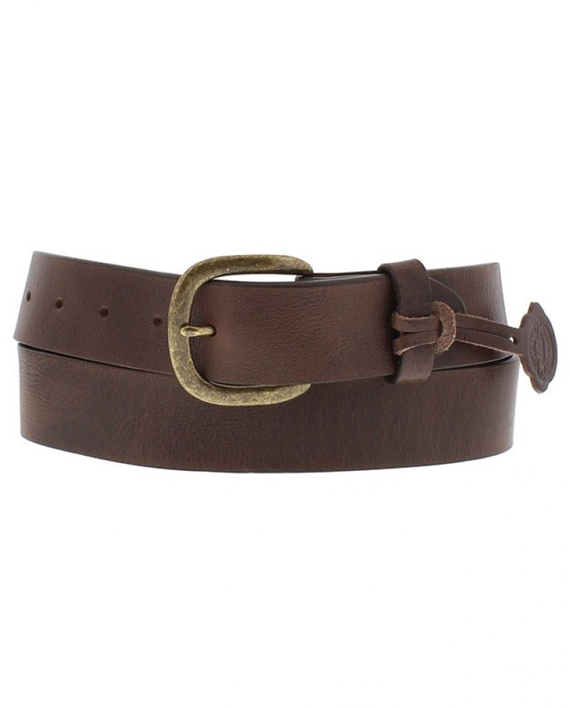 Brown belt, smooth leather