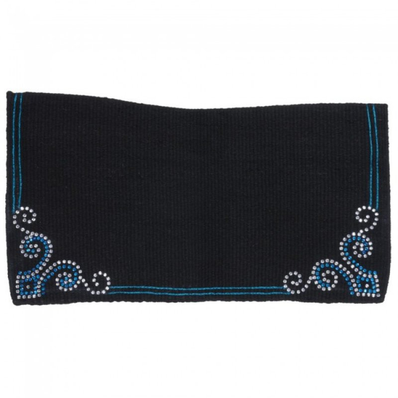 Contour Wool Showblanket with Crystal Arrow Design Turquoise