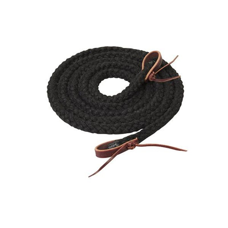 Silvertip Hollow Braid Trail Reins, 5/8  -s1