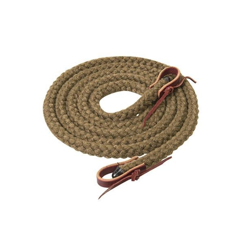 Silvertip Hollow Braid Trail Reins, 5/8  -s9