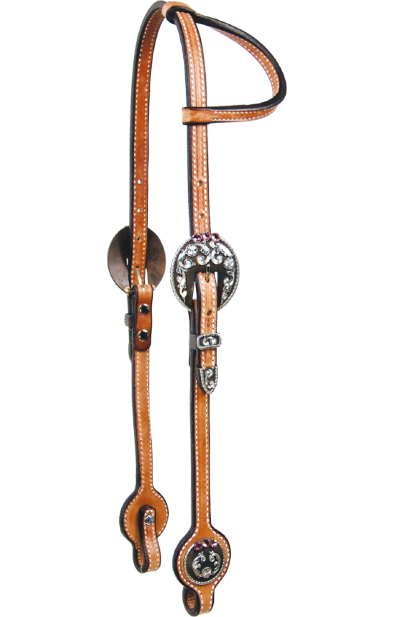 Pink Jeweled Headstall