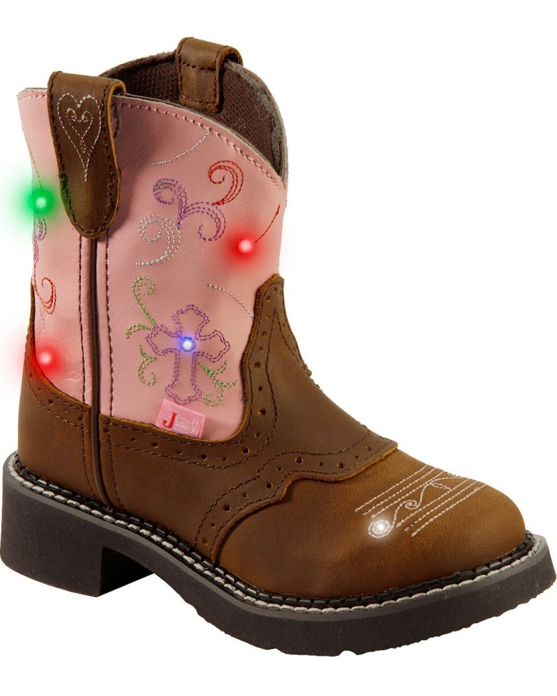 Girl's Bay Apache Pink Western Boot