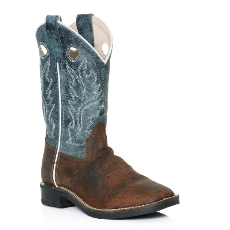 Snuffed Blue Leather Kid boot