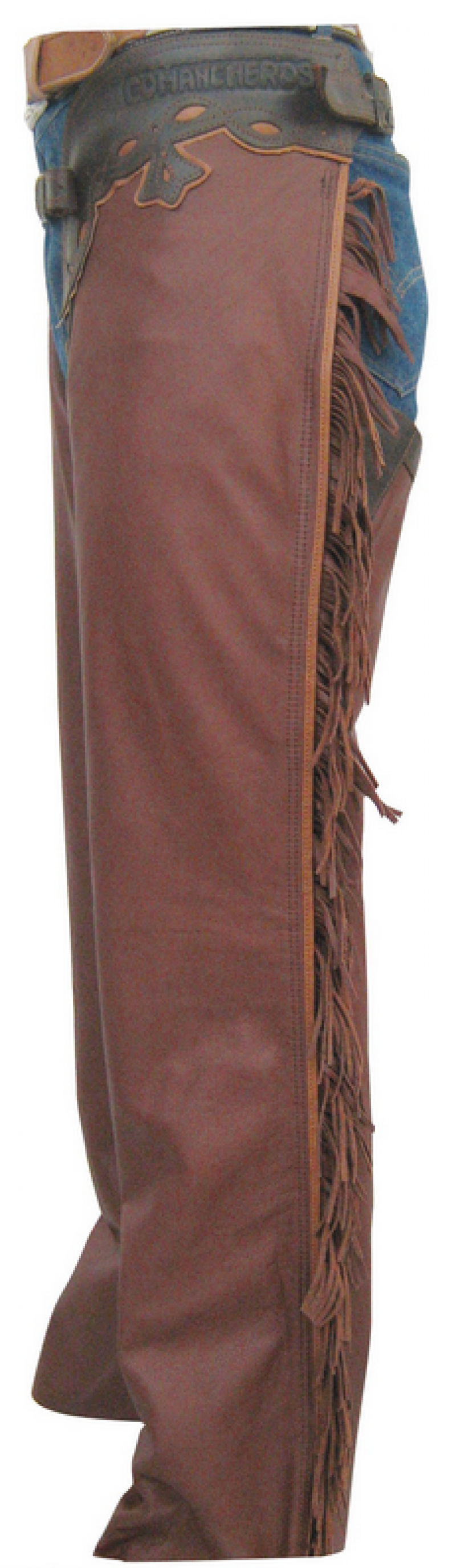 Smooth Leather Chaps Brown