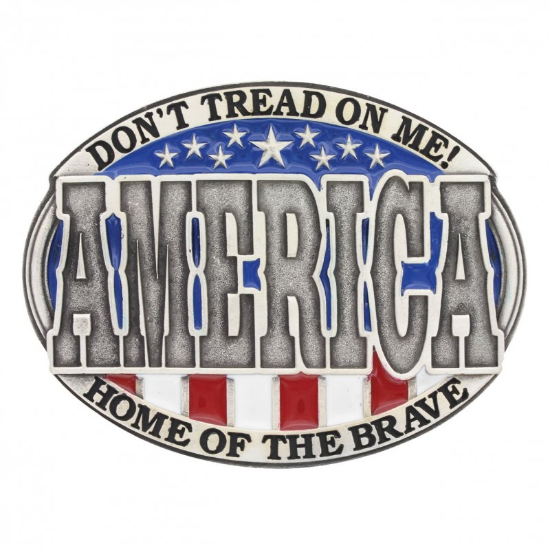 America Home of the Brave Attitude Buckle