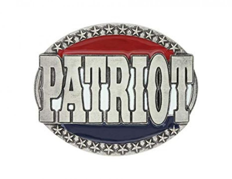 Montana Silversmiths Red, White & Blue Patriot Attitude Buckle