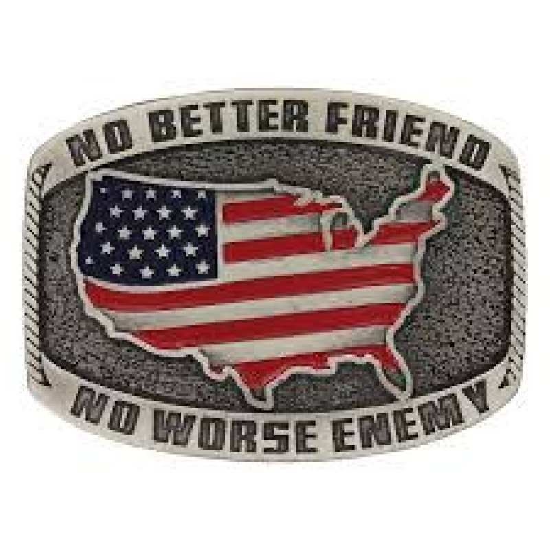 No Better Friend Painted Attitude Buckle