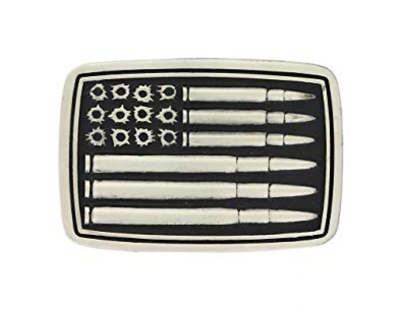 Bullets & Holes Flag Attitude Buckle(A709P)