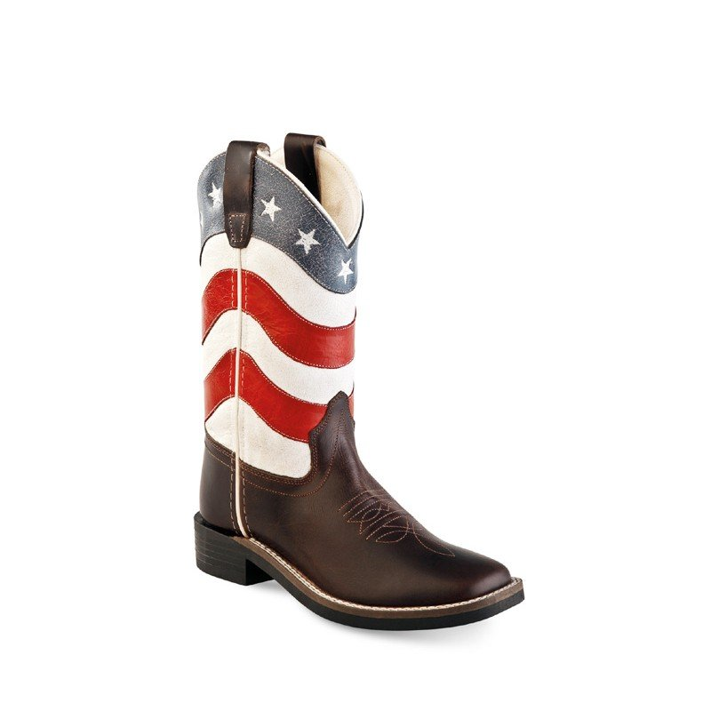 Old west kid boots - American flag