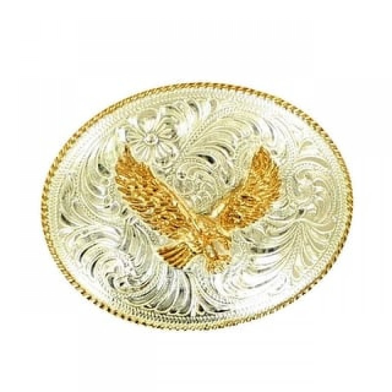Crumrine Western Belt Buckle Patriotic Flying Eagle