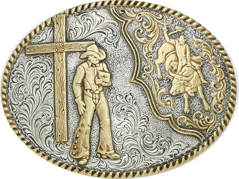 Bullrider and Cross Buckle by Crumrine
