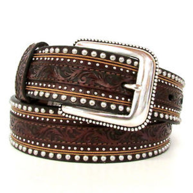 Jagged Rail Western Leather Belt