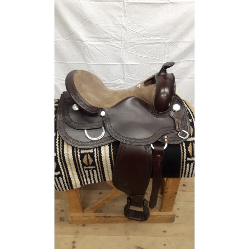 Garland Dark Brown, brown nubuck seat