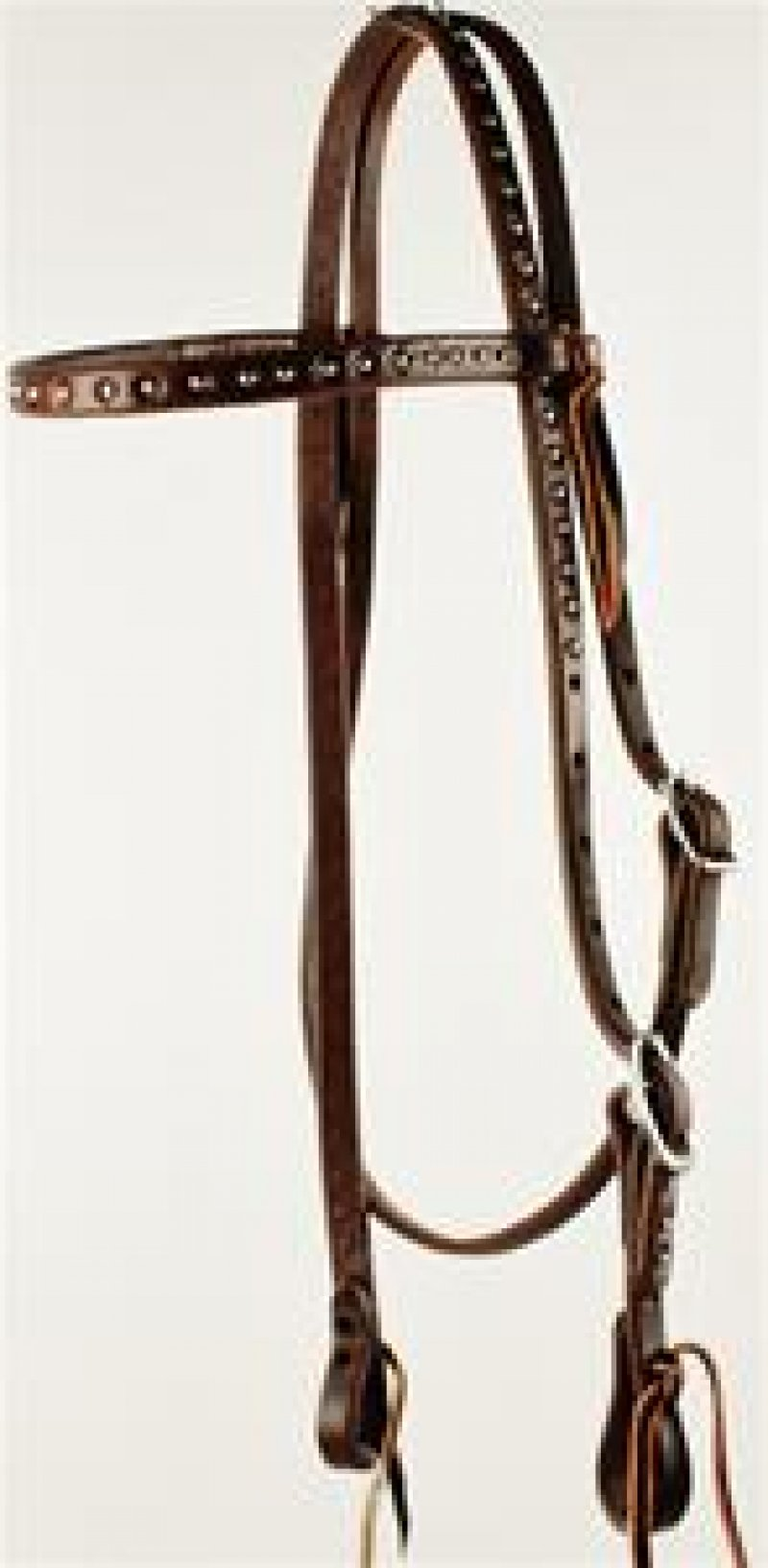 Dotted Single Buckle Browband Headstall