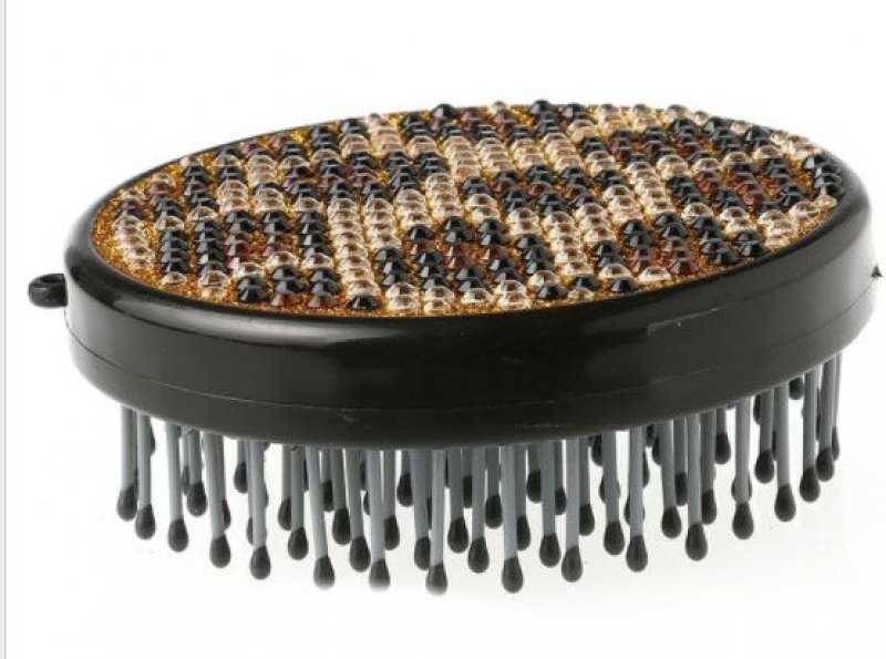 Leopard Bling Round Mane and Tail Comb
