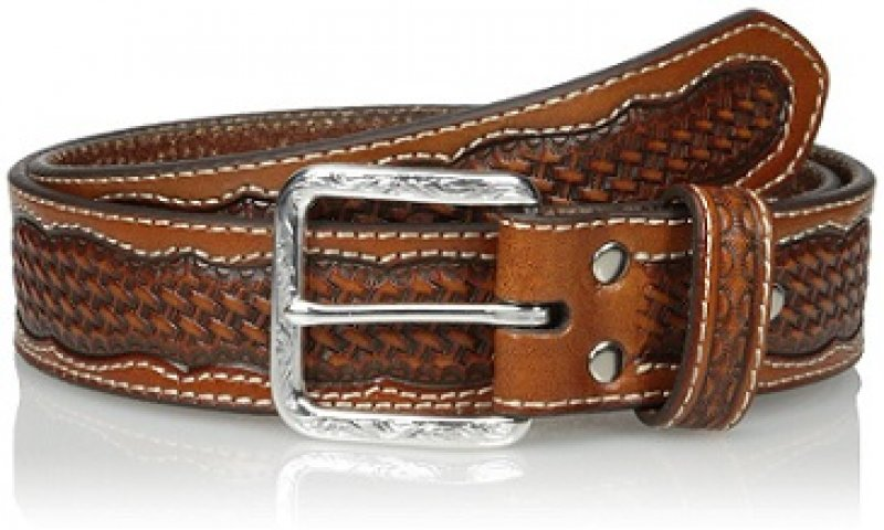 Basket-Center Double-Stitch Belt