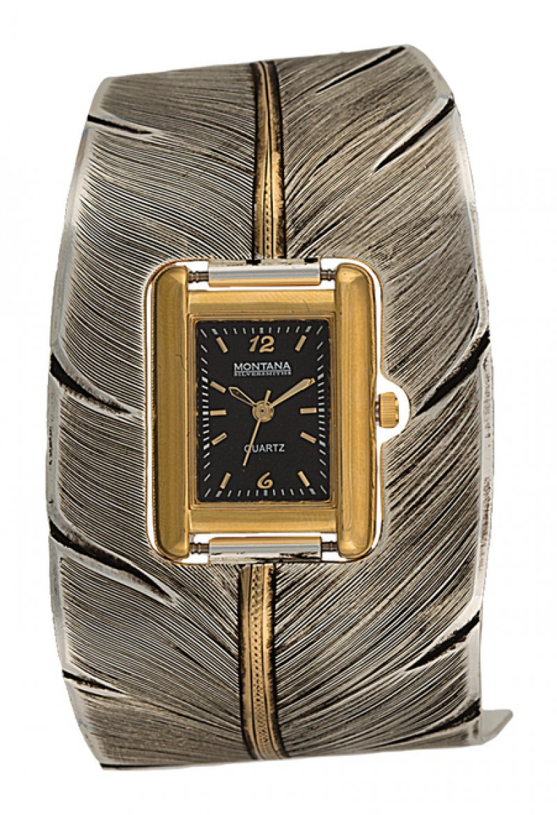 Montana Silversmiths :Feather Cuff Watch