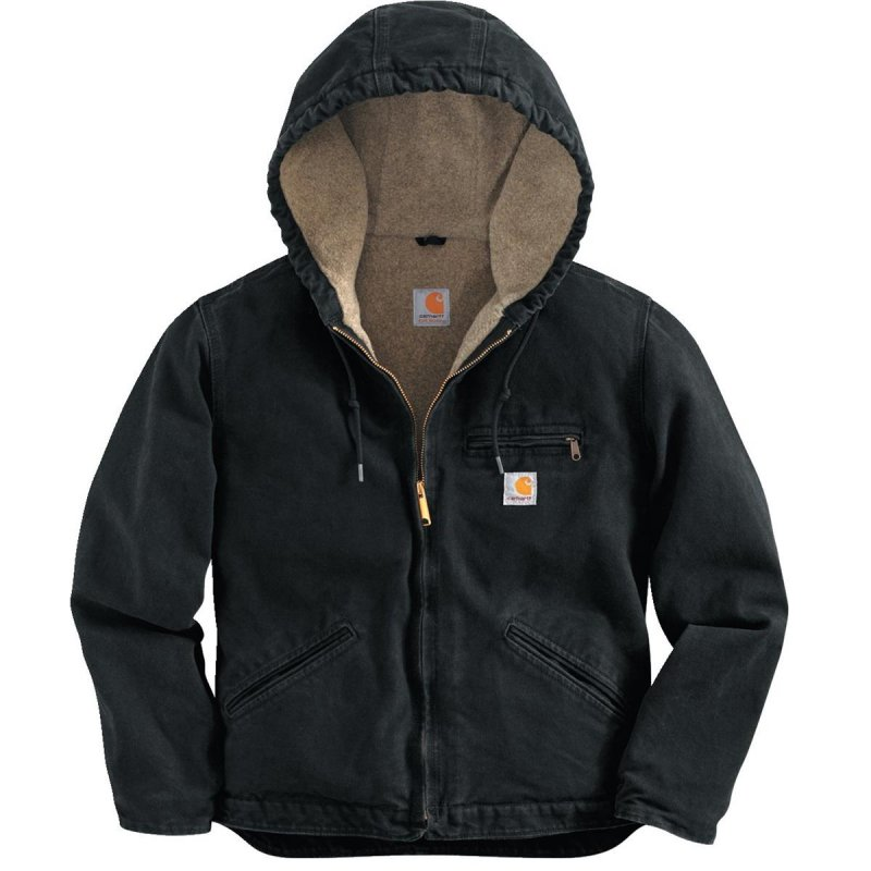 Women's 100% Cotton Sandstone Duck Hooded Sierra Jacket - Black